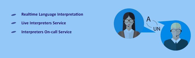 Live video interpretation services